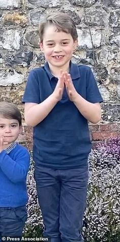 The eldest Cambridge youngster, Prince George (pictured left), drew striking similarities to his father Prince William Prince William Hair, Prince William Birthday, Prince William Girlfriends, Prince William Family, Prince William And Catherine, Prince Charles, Kate Middleton Young, Kate Middleton Wedding, Baby Prince