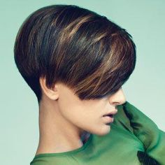 I like this short hair style with a splash of color