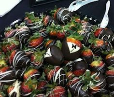 Bride and Groom Chocolate Covered Strawberries. How Adorable!