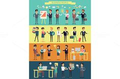 Business People Characters by robuart on @creativemarket