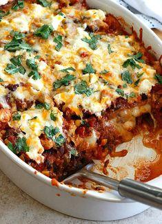 Mexican Lasagna Recipe - RecipeChart.com