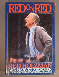 """RED HOLTZMAN New York Knicks signed 1987 book """"Red on Red"""" deceased 1998"""