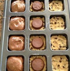 Brownie, reeces, chocolate chip cookie :)