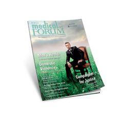 Medical Forum Magazine Publication Design, Domestic Violence, Medical, Magazine, Books, Libros, Medicine, Book, Book Illustrations
