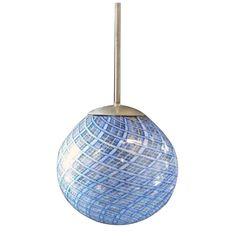 Carlo Scarpa Attribution Blue glass lamp  Italy  1930  glass Chandelier 1930ca.