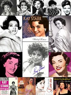 """Kay Starr (born July 21, 1922) is an American pop and jazz singer who enjoyed considerable success in the 1940s & 50s. She is best remembered for introducing two songs that became #1 hits in the 1950s, """"Wheel of Fortune"""" and """"The Rock And Roll Waltz"""". Starr was successful in every field of music she tried: jazz, pop and country. But her roots were in jazz; and Billie Holiday, considered by many the greatest jazz singer of all time, called Starr """"the only white woman who could sing the…"""