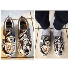 Star Wars custom shoes - BB8 and Storm trooper