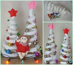 Crochet Christmas Tree Free Patterns for Holiday Decoration and Gifts to Family and Friends, crocodile stitch Christmas tree, Granny Square, Circle Applique Christmas Tree Images, Christmas Tree Pattern, Mini Christmas Tree, Colorful Christmas Tree, Christmas Crafts To Make, Crochet Christmas Ornaments, Christmas Projects, Christmas Ideas, Christmas Things