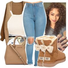 A fashion look from September 2016 featuring UGG Australia ankle booties. Browse and shop related looks.