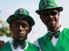 Island greenery: St. Patrick's Day celebrations in the Caribbean.