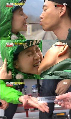 """Monday Couple"" Gary and Song Ji Hyo Play the Peppero Game Again Running Man Song, Running Man Cast, Running Man Korean, Ji Hyo Running Man, Couple Running, Korean Tv Shows, Korean Variety Shows, Gary And Ji Hyo, Runing Man"