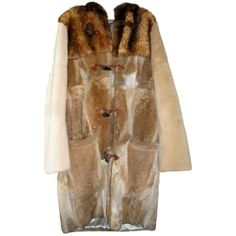 Pre-owned Maison Martin Margiela Brown Fur Coat ($1,340) ❤ liked on Polyvore featuring men's fashion, men's clothing, men's outerwear, men's coats, brown, men clothing coats, mens brown coat and mens fur coats