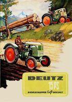 Farb-Plakat: Deutz Trecker 15PS Traktor Reprint NEU