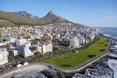 Aerial View of Sea Point. Sea Point is one of Cape Town's most affluent and densely populated suburbs. Paises Da Africa, West Africa, Cool Countries, Countries Of The World, Mother Daughter Trip, Reserva Natural, Namibia, Cape Town South Africa, Belle Villa