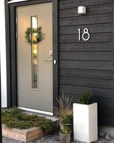Entrance Hall, Christmas Deco, Tall Cabinet Storage, Color Pop, Garage Doors, Outdoor Decor, Inspiration, Houses, Seasons