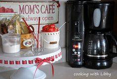 Homemade Coffee/Tea Station {Kitchen Organization