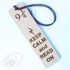 Harry Potter bookmark, Keep Calm, Wooden bookmark, bookmark, gift, Gift for Him, Gift for Her, Laser cut, Laser engraved