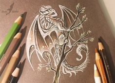 Spring blue sky Many of you asked about this dragon.  I drew (: Art © me ►►MY ETSY SHOP ►►MY TWITTER ►►MY TUMBLR ►►MY FACEBOOK PAGE
