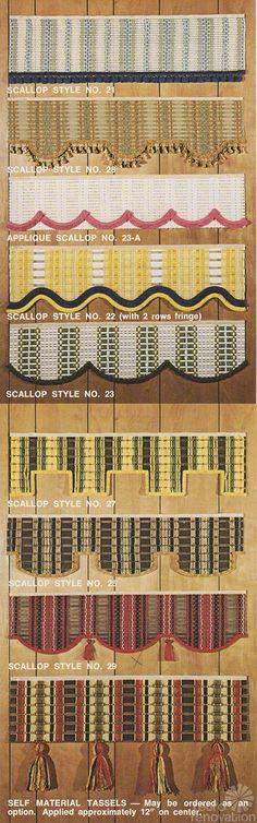 retro scalloped blinds