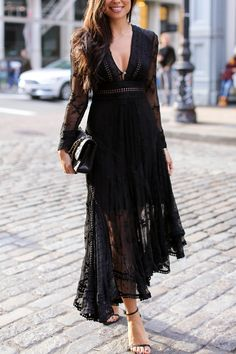 Black lace Zimmermann dress.