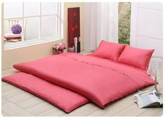 """Korean """"yo"""" super comfy and a huge space saver.  After you wake up just fold it up and put it in the corner of the room"""
