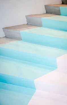 Pastel stairs at the Pelican Studio in Amsterdam