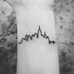Minimalist skyline Tattoo design
