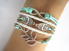 Combined Bracelet Antiqued Infinity Bracelet by WearingPretty, $7.99