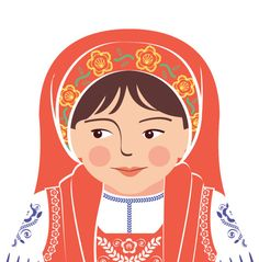 Portuguese Wall Art Print with culturally traditional dress
