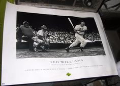 TED WILLIAMS UPPER DECK POSTER BASEBALL TRIPLE CROWN 1992