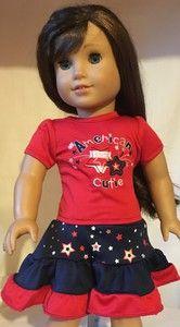 American cutie skirt set