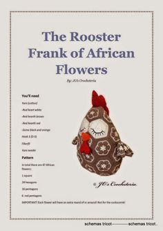 AFRICAN ENGLISH-The-rooster-Frank-crochet-pattern - gurumi var - Picasa Web Albums