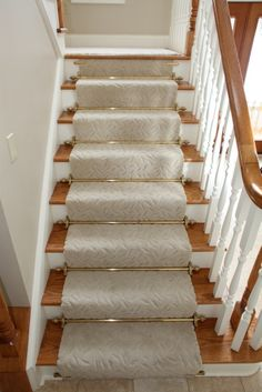 Random Example Of Stair Rods Holding On A Runner From Wilmac Flooring