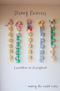 Disneyland Countdown with the Disney Princesses! How cute!