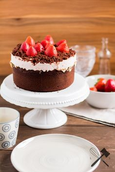 Schokoladen und Erdbeeren Torte - Law of Baking