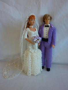 Little Miss' Crochet Barbie Wedding - Bride & Groom
