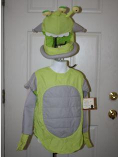 New Boy Pottery Barn Kids Space Man Alien Green Halloween Costume Size 2T/3T 4/6 | eBay