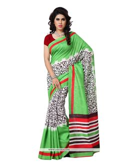 Vogue and trend could be at the peak of your magnificence the moment you attire this multi colour art silk casual saree. This attire is showing some really mesmerizing and innovative patterns embroide...