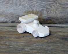 Handmade wooden toys jet plane space ship wood by OutOnALimbADK