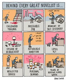 INCIDENTAL COMICS: Behind Every Great Novelist