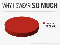 Why I Swear So Much - Because... by Erika Napoletano, via Flickr Hahahaha