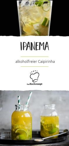 Ipanema (non-alcoholic caipirinha) is the perfect mocktail for anyone who does not . - - Ipanema (non-alcoholic caipirinha) is the perfect mocktail for anyone who does not drink alcohol, prefer non-alcoholic drinks or drive later. Healthy Eating Tips, Healthy Drinks, Healthy Life, Healthy Food, Nutrition Drinks, Healthy Recipes, Caipirinha Drink, Virgin Cocktails, Tonic Water
