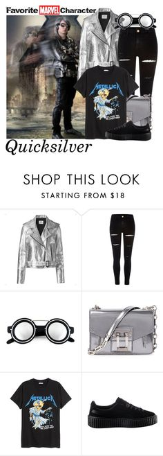 """""""DM nerds"""" by aksmasads ❤ liked on Polyvore featuring Quiksilver, Mads Nørgaard, River Island, Proenza Schouler and Puma"""