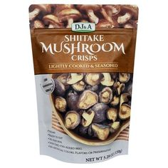 Dj&A Shiitake Mushroom Crisps Plant Based Snacks, Sources Of Dietary Fiber, Yeast Extract, Potato Chips, Natural Flavors, Vegan Friendly, Sangria, Healthy Snacks, Stuffed Mushrooms