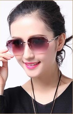 Find More Information about Fashion rimless sunglasses female star style 2015 glasses big diamond frame glasses sunglasses female,High Quality sunglasses o,China glasses cap Suppliers, Cheap sunglass women from June Day on Aliexpress.com