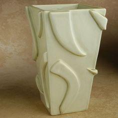 Slab Built Ceramic Vase by symmetricalpottery on Etsy