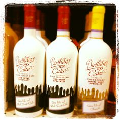 How About Birthday Cake Vineyards Wine Available In Black Forest Red And Cheesecake White There Is Also A Batter Flavor
