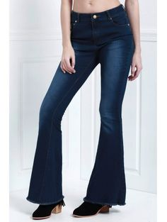 SHARE & Get it FREE | Denim Super Flare Jeans - Deep BlueFor Fashion Lovers only:80,000+ Items • New Arrivals Daily Join Zaful: Get YOUR $50 NOW!
