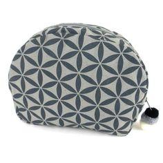 Flower of Life Cosmetic Bag Grey/Grey - Global Groove (P)