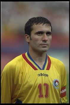 Portrait of Gheorghe Hagi of Romania before the start of the game against Switzerland during the World Cup Finals in the USA Consigue fotografías de noticias de alta resolución y gran calidad en Getty Images Classic Football Shirts, Vintage Football, World Football, Football Players, Rangers Fc, World Cup Final, Sport Icon, Fifa World Cup, Romania